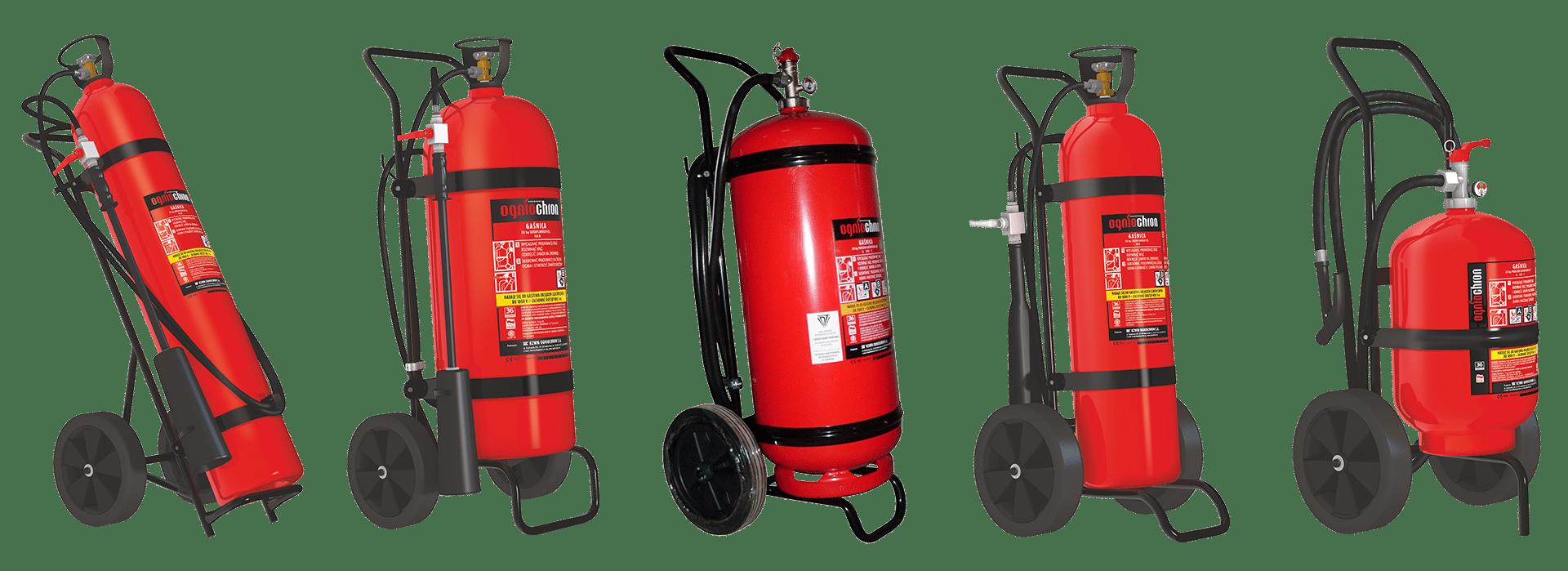 verrijdbare brandblussers 20kg 50kg
